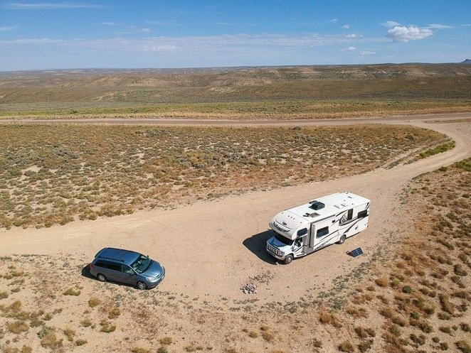 RV boondocking with big family