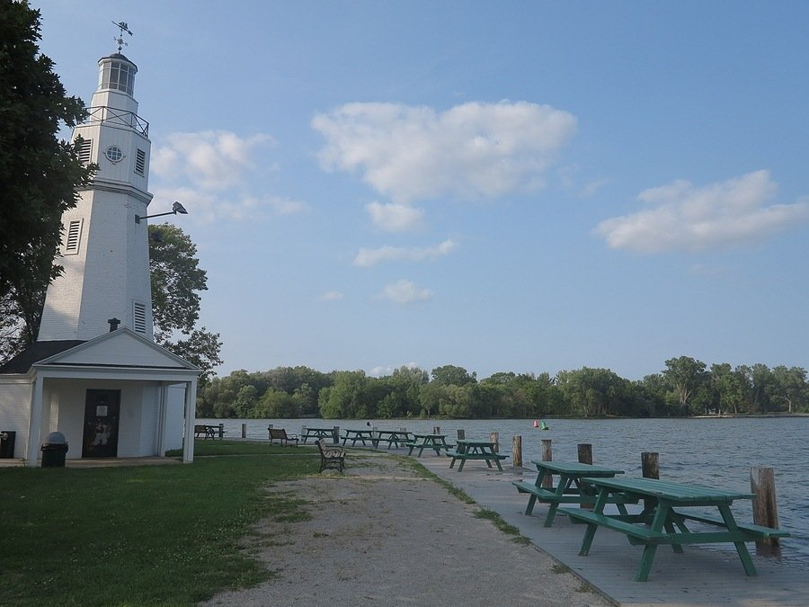 Lake Winnebego Wisconsin with light house